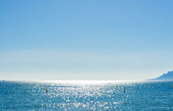 View of beautiful landscape: sea and sunny sky Stock Photography