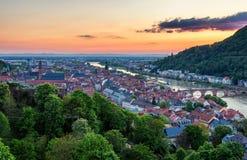 View of beautiful medieval town Heidelberg, Germany Stock Photos