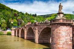 View of beautiful medieval town Heidelberg, Germany.  stock images
