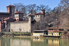 View of the beautiful Medieval Village, Turin Stock Photo