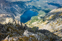 View of beautiful mountain lake Stock Photography
