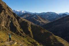 View of beautiful mountain range Royalty Free Stock Image