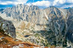 View of beautiful mountains from Solisko in High Tatras, Slovakia Royalty Free Stock Images
