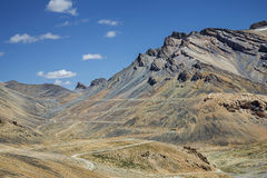 View of beautiful mountains and winding road Stock Photo