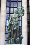 Old green Apollo statue in Paris, France. View of a beautiful and old green Apollo statue on Paris, France Royalty Free Stock Photo