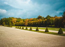 View of beautiful park. With geaometric forms Stock Photography