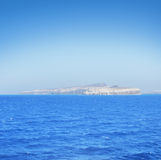 View of beautiful and peaceful Mediterranean sea with islands Royalty Free Stock Images
