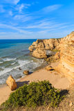 A view of beautiful Praia de Marinha beach Stock Image