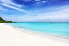 View of beautiful sea beach Royalty Free Stock Image