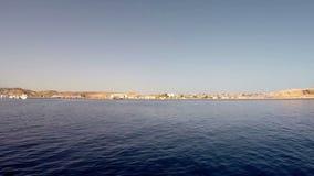 View of beautiful sea coast in Egypt stock video
