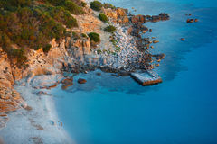 View of beautiful sea, Sardinia, Italy Stock Images