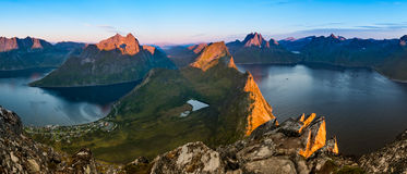 View from Beautiful Segla Mountain, Senja Stock Image