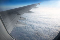 View of beautiful sky from airplane Stock Photography
