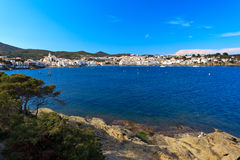 View of beautiful Spanish fishing village Stock Image