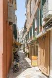 View of a beautiful town Kerkyra. Royalty Free Stock Image