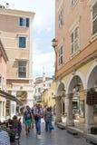 View of a beautiful town Kerkyra. Stock Photo