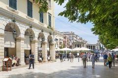 View of a beautiful town Kerkyra. Royalty Free Stock Photos