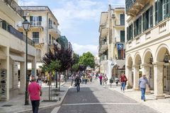 View of a beautiful town Kerkyra. Royalty Free Stock Photography