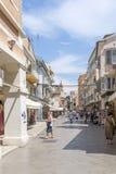 View of a beautiful town Kerkyra. Stock Photography