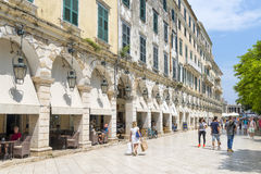 View of a beautiful town Kerkyra. Royalty Free Stock Images