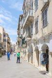 View of a beautiful town Kerkyra. Royalty Free Stock Photo