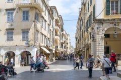 View of a beautiful town Kerkyra. Stock Images