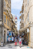 View of a beautiful town Kerkyra. Stock Image