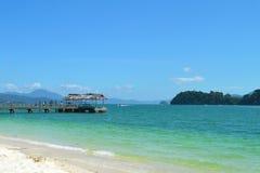 Beautiful tropical beach in Malaysia. stock photography