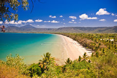 View of a beautiful tropical beach Stock Photo