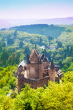 View of beautiful Vianden castle, Luxembourg. View of beautiful Vianden castle on the north of Luxembourg Royalty Free Stock Image