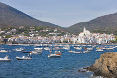 View of the beautiful village of Cadaques in the Costa Brava in Royalty Free Stock Photography