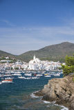 View of the beautiful village of Cadaques in the Costa Brava in Stock Images