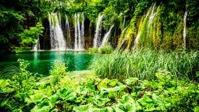 View of beautiful waterfall Stock Photo