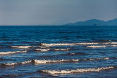 Beautiful waves in the sea royalty free stock photos