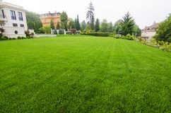 View on beautiful lawn royalty free stock photography