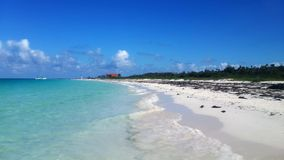 View of a beautiful white sanded beach in Cuba. Stock Images