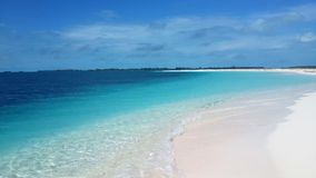 View of the beautiful with white sanded beach in Cuba. Stock Photography