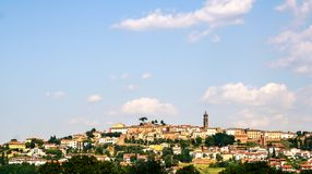 Looks like a beautifully tuscany City with clouds stock photography