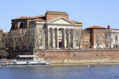 Quay of the Garonne, Toulouse. View on the Beaux-Arts Museum in Toulouse, France Stock Photos