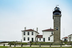 View of the Beavertail lighthouse Royalty Free Stock Photography