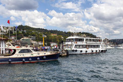 View of Bebek ferry station. royalty free stock photography