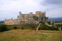 View on Beckov ruins, slovakia Stock Photos