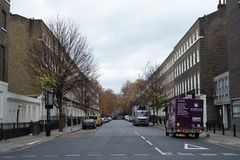 Bedford Place from Russell Square royalty free stock photography