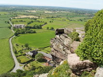 View from Beeston castle Royalty Free Stock Photography