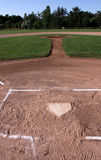 View from Behind Home Plate Stock Image