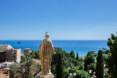 The view from behind the sculpture of Augustus. Near the palace of the Roman governor of the Mediterranean Sea. Tarragona, Catalonia, Spain royalty free stock photography