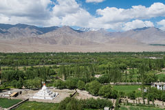 View behind Shey Palace in Leh Ladakh. Royalty Free Stock Photos