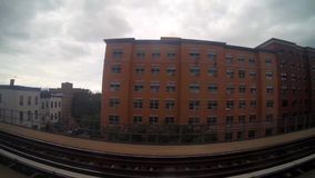 View Behind the Tracks of the Subway stock video