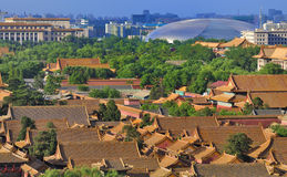 View of Beijing,Forbidden city ,Morden building stock image
