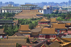 View of Beijing,Forbidden city ,National Museum Royalty Free Stock Photos